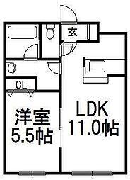 アムール東札幌[203号室]の間取り