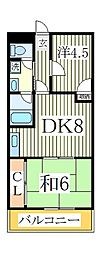 ゴールデンハイツ[4階]の間取り
