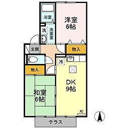 グランシャリオ21 B棟[1階]の間取り