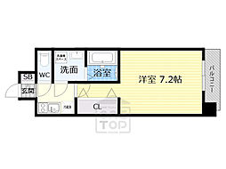 Osaka Metro谷町線 野江内代駅 徒歩9分の賃貸マンション 3階1Kの間取り