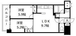 アトラスアルファーノ箱崎[4階]の間取り