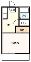 桜コーポB[203号室]の間取り