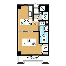 カヤバプラザF館[7階]の間取り