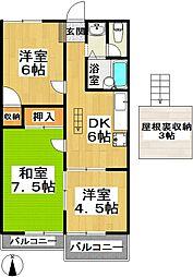 ソシヤ藤代[2階]の間取り