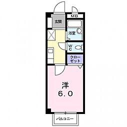 グッドリバーA[2階]の間取り