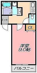 兵庫県神戸市東灘区御影本町8丁目の賃貸アパートの間取り