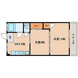 静岡県静岡市葵区安東2丁目の賃貸マンションの間取り