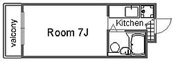 ZONE24[103号室]の間取り