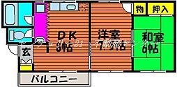 岡山県岡山市中区平井7丁目の賃貸マンションの間取り