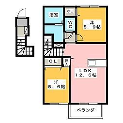 La・FERIO 2[2階]の間取り