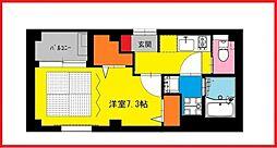 東京都葛飾区金町4丁目の賃貸マンションの間取り