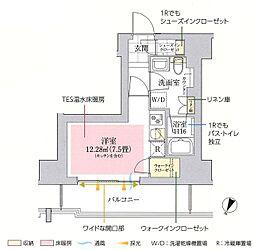東京メトロ丸ノ内線 御茶ノ水駅 徒歩10分の賃貸マンション 7階ワンルームの間取り