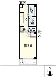 ツチヤマンション別館[2階]の間取り