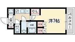 おおさか東線 JR淡路駅 徒歩5分の賃貸マンション 6階1Kの間取り