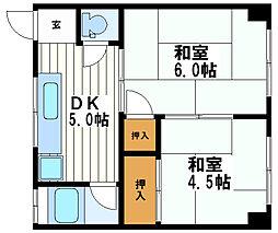 高津マンション[4階]の間取り