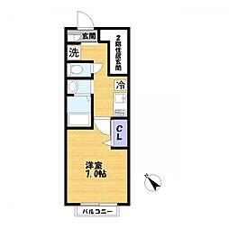 ハーモニーハウス[1階]の間取り