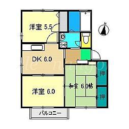 アメニティー21 A棟[2階]の間取り