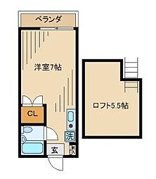 フューチュア[2-B号室]の間取り