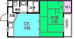 スミユー香枦園[103号室]の間取り