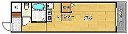 大阪府高槻市川西町1丁目の賃貸マンションの間取り