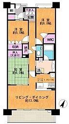 東京都稲城市向陽台6丁目の賃貸マンションの外観