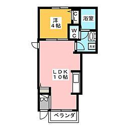 ハピネス テラス[1階]の間取り