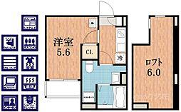 アベニール林寺[2階]の間取り