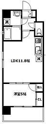 メルヴェーユ新宿[202号室]の間取り