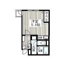 ハピデンス新宿[2階]の間取り