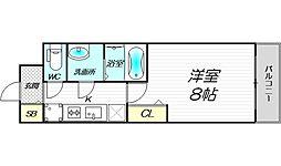 PHOENIX新大阪 8階1Kの間取り