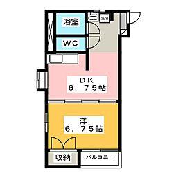 BELLCOURT松並木[3階]の間取り