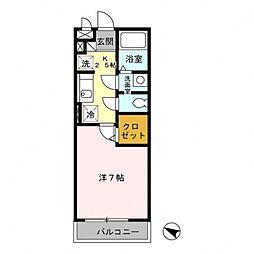パピヨン南大沢[1階]の間取り