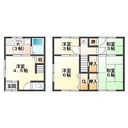 [一戸建] 兵庫県神戸市垂水区野田通 の賃貸【/】の間取り