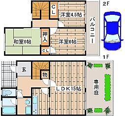 [テラスハウス] 兵庫県神戸市西区池上5丁目 の賃貸【/】の間取り