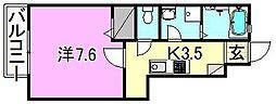 LUMIELE和泉[103 号室号室]の間取り