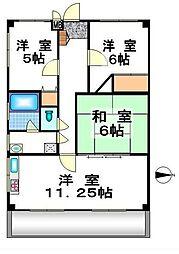 八幡町3丁目マンション[2階]の間取り