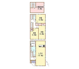 [テラスハウス] 神奈川県横浜市瀬谷区阿久和東2丁目 の賃貸【/】の間取り