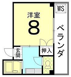エスぺランサ伊藤[201号室]の間取り