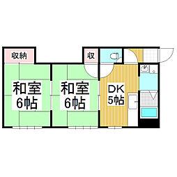 TOWNY TAKIZAWA B棟[2階]の間取り