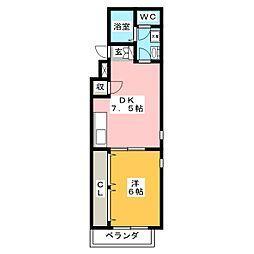 ハウス壱番館[2階]の間取り