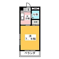 マウンテンマンション植田山[3階]の間取り