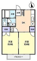 カーサすみれ壱番館[1階]の間取り