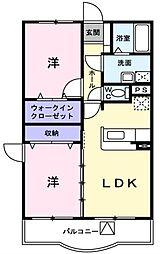 埼玉県吉川市道庭1丁目の賃貸マンションの間取り