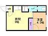間取り,1DK,面積29.16m2,賃料3.3万円,バス くしろバス中園通下車 徒歩5分,,北海道釧路市愛国東3丁目6-25
