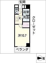 ASKビル 4階1Kの間取り