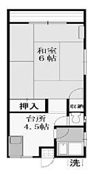 東京都日野市豊田3丁目の賃貸アパートの間取り