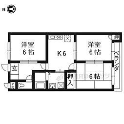 ファミーユTAKADA 2階3DKの間取り