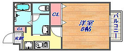 セジュール赤坂[103号室]の間取り