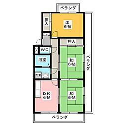 グランドメゾン天子田[4階]の間取り
