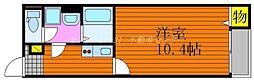 JR山陽本線 庭瀬駅 徒歩10分の賃貸アパート 1階1Kの間取り